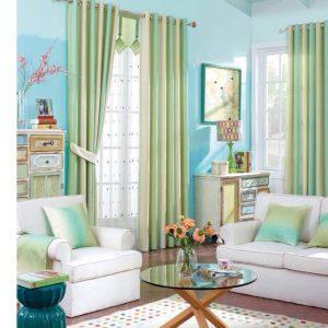 rèm vải theo phong cách hiện đại đơn giản