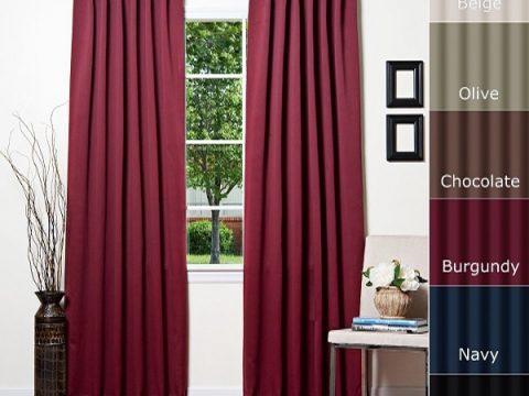 Rèm vải một màu – Mang sắc màu Châu Âu vào căn nhà bạn