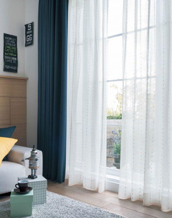 Mẫu rèm vải nhẹ nhàng, đơn giản cho phòng ngủ
