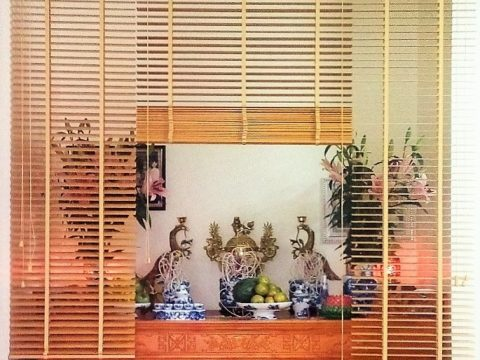 Cách chọn các mẫu rèm phòng thờ đẹp, hợp phong thủy