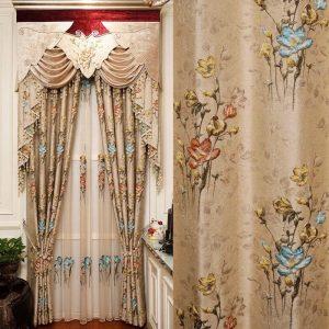 rèm vải hoa